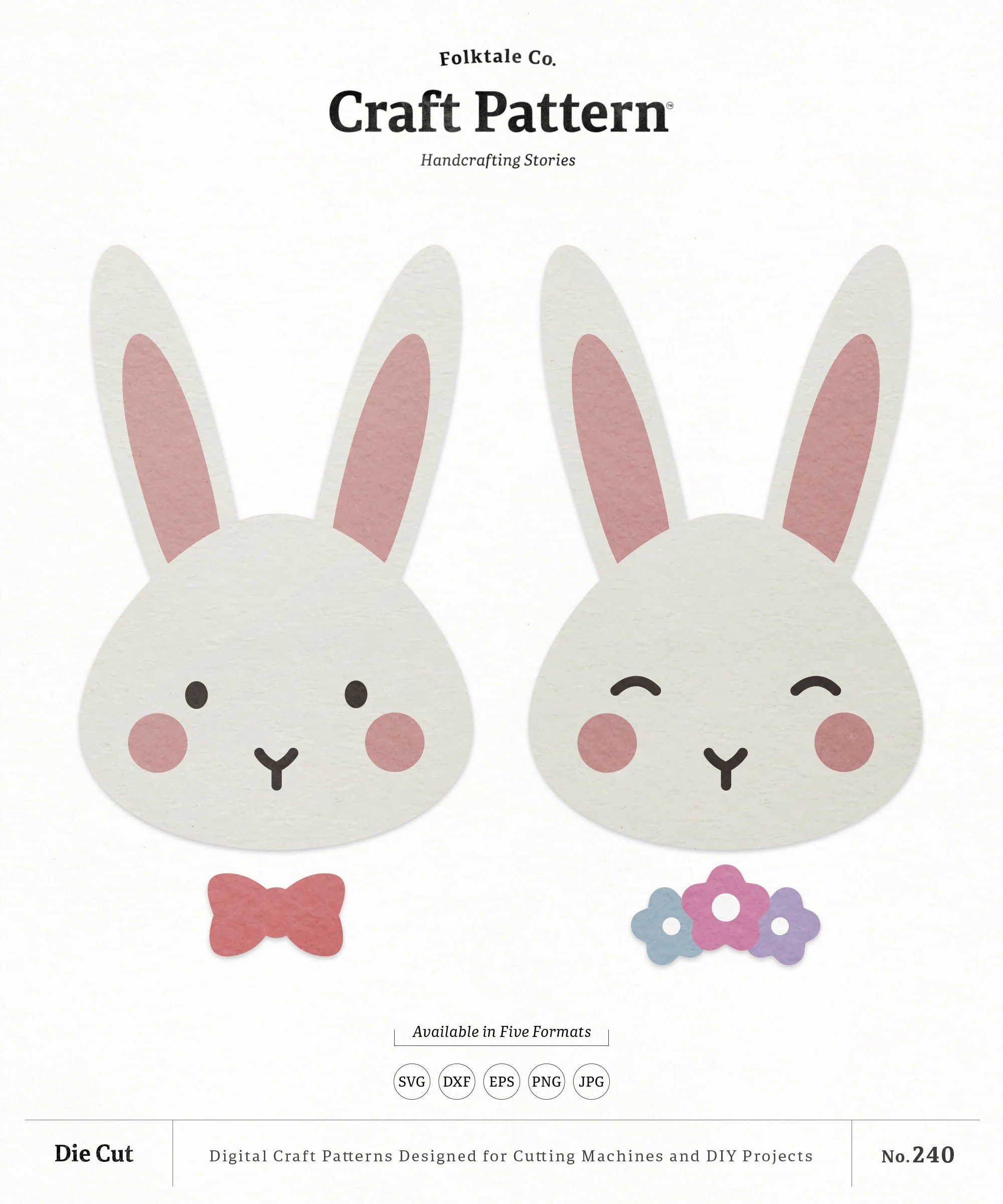 Bunny Face Svg : bunny, Bunny, Craft, Pattern, Rabbit, Nursery