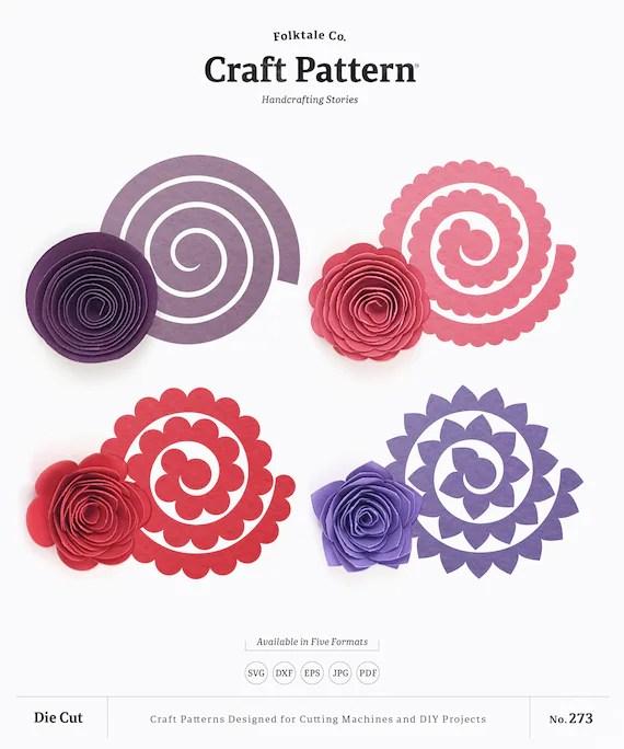 Rolled Flowers : rolled, flowers, Rolled, Flower, Paper