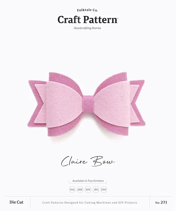 Bow Svg : Claire, Template