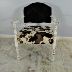 Black And White Cowhide Chair Wheel Carrier Accent Etsy Faux Brown Distressed