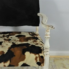 Black And White Cowhide Chair Office Adjustment Levers Accent Faux Etsy Image 0