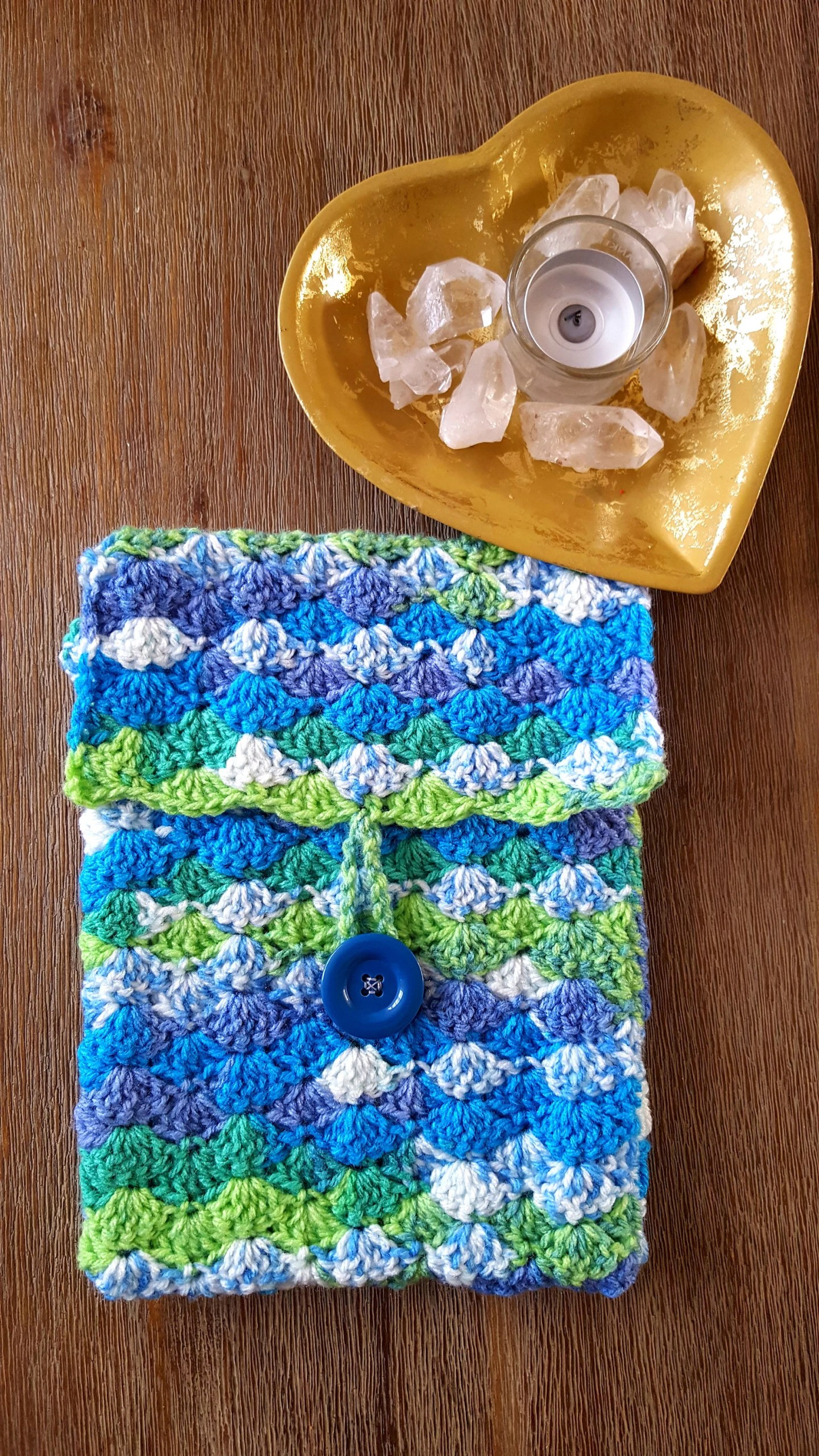 Crochet Book Sleeve (blue...
