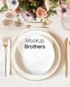 Wedding Menu Mockup Menu Card Mock Up Dish Mockups Gold Etsy