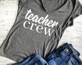 Teacher Crew svg, teacher svg, teacher shirt svg, teacher gift svg, svg file for cricut, svg files, cut file, teacher crew,