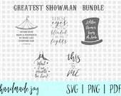 Greatest Showman SVG Bundle - five Greatest showman cut files included