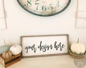 Fall Farmhouse sign mock up with pumpkins