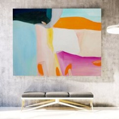 Modern Living Room Canvas Art Small Settings Large Etsy Original Abstract Painting Contemporary Oil La0053