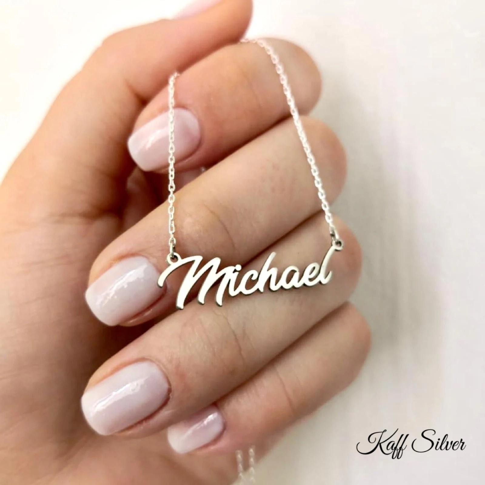 Silver Name Necklace Personalized Name Necklace Custom Name image 2