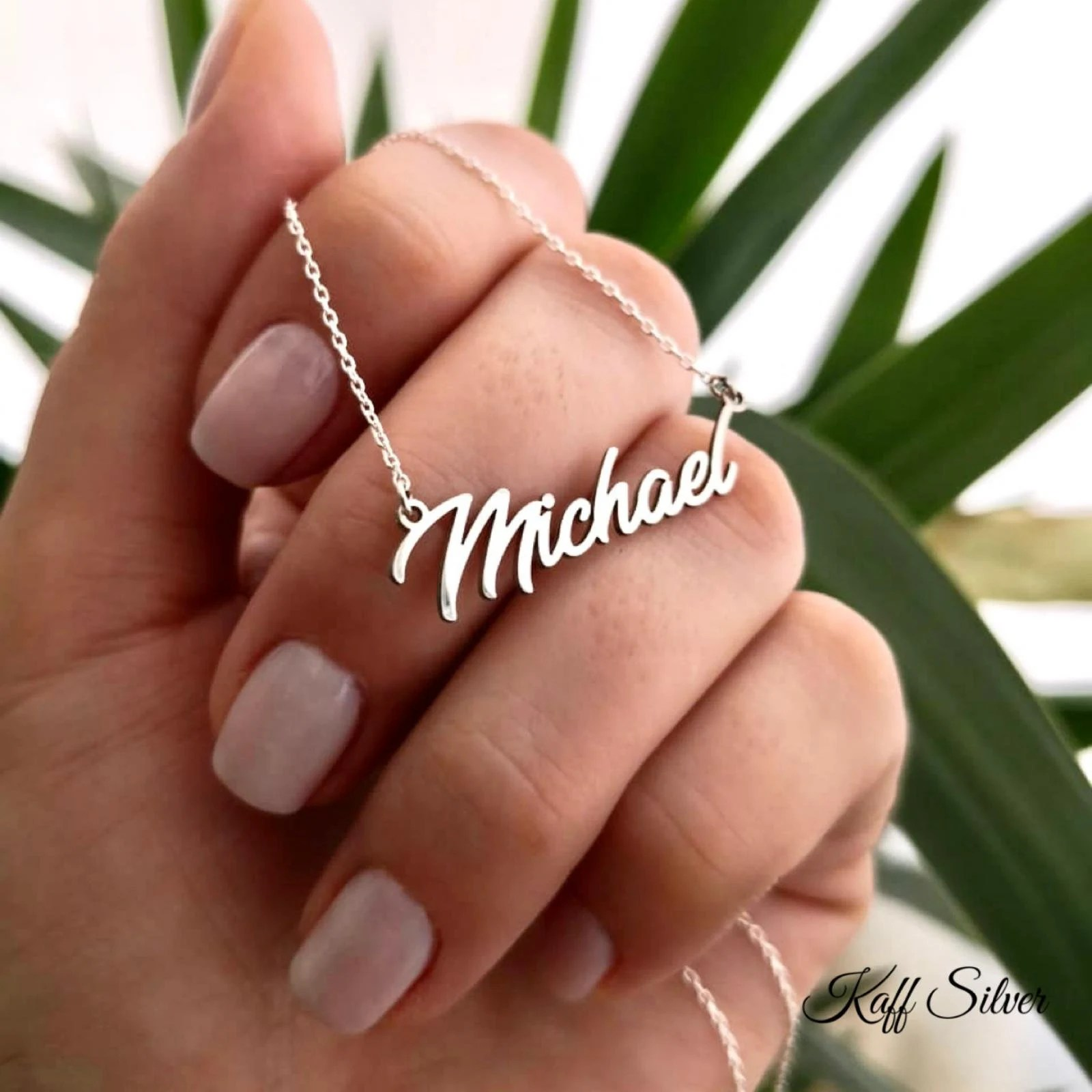 Silver Name Necklace Personalized Name Necklace Custom Name image 1