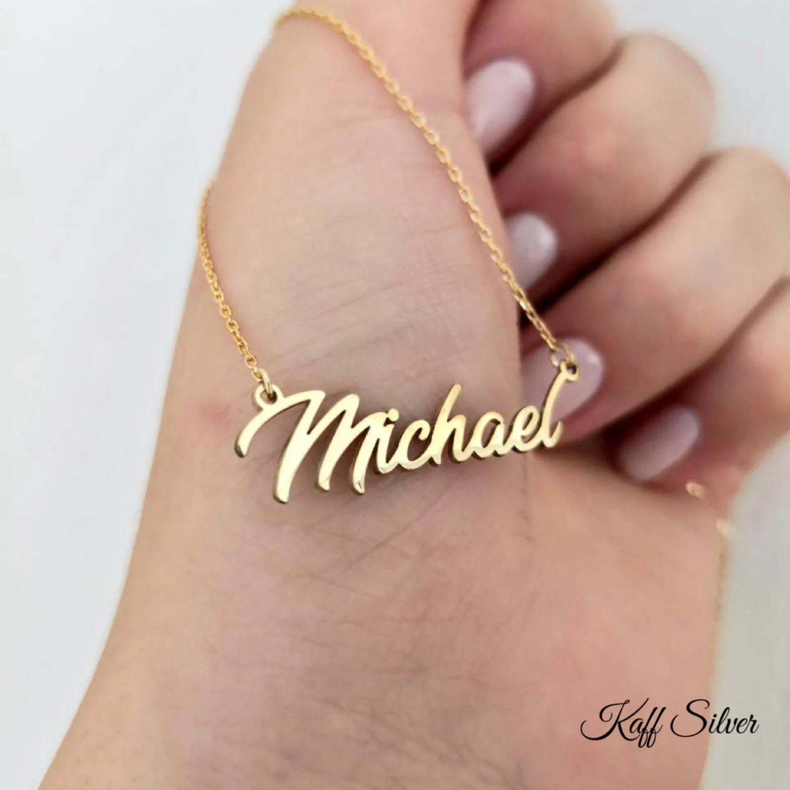 Silver Name Necklace Personalized Name Necklace Custom Name image 4