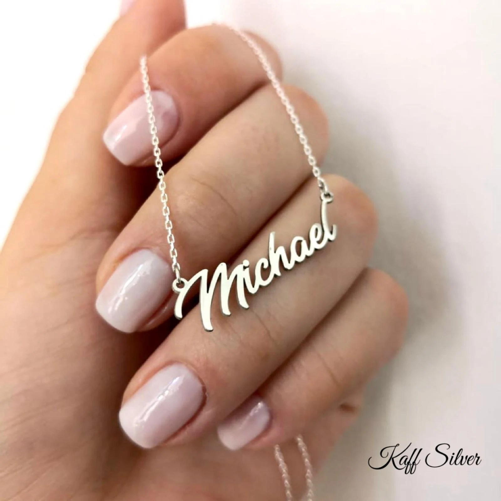 Silver Name Necklace Personalized Name Necklace Custom Name image 5
