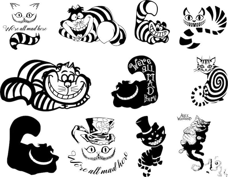 Cheshire Cat clipart Cheshire Cat bundle Cheshire Cat set