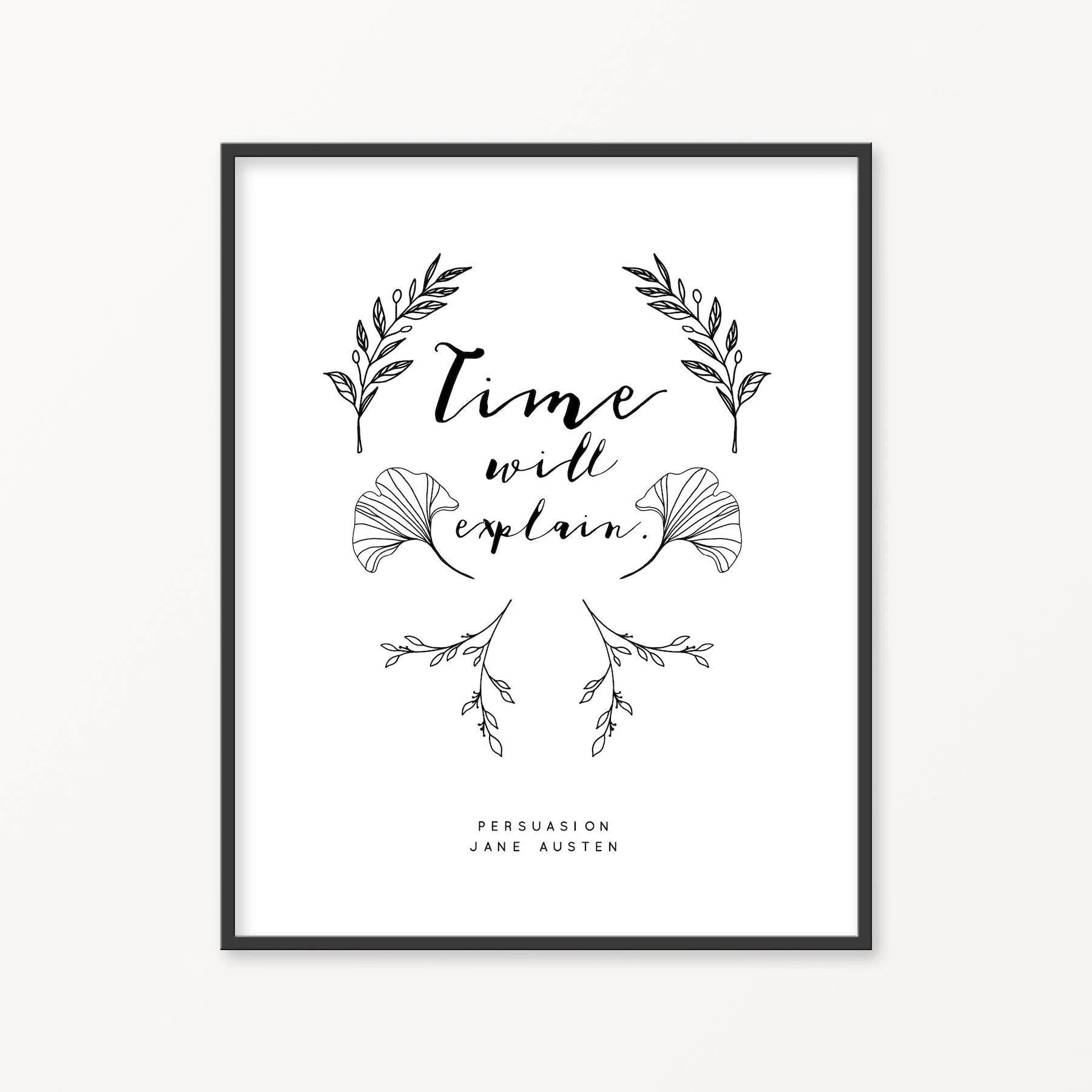 Persuasion Jane Austen Literature Art Print Reading Corner