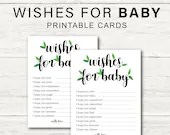 Printable Wishes for Baby Cards, Floral Theme