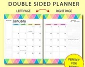 2019 DATED Mom Monthly Planner, Mom Planner, Instant Printable, Unlimited Prints, Productive Colors