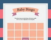 Baby Shower Games, Pink, Blue, Instant Printable, Unlimited Prints, 6-Game Package + Answer Sheet