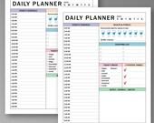 Daily Planner Printable, Planner Insert, ARC System, Binder Inserts, Instant Printable, Unlimited Prints, Digital File