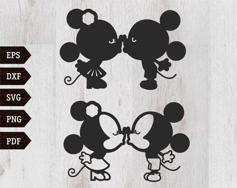 Download Mickey Svg Mouse svg Minnie Mickey Kiss svg Mouse svg Love ...