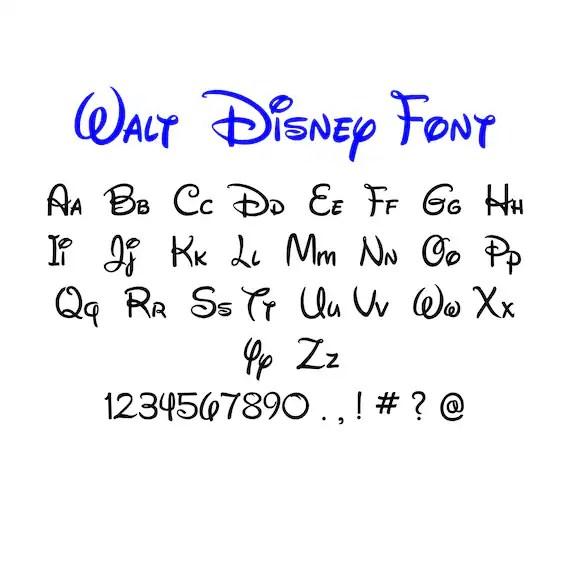 Walt disney font svgdxf/Walt disney alphabet /Walt disney