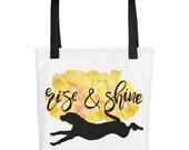 Rise and Shine Bag, Dog Fashion Bag, Hound Dog, Dog Totes, Dog Lover Bag, Gifts for Her   Front Seat Ryder