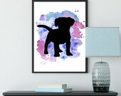 Dog Printable, Instant Download, Pet, Dog painting, Watercolor paint, Personalized Print, Puppy   Front Seat Ryder