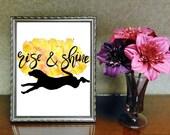 Rise & Shine Dog Printabl...
