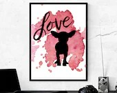 Love Chihuahua, Printable Art, Crazy Dog Lady, Little Dogs, Pet Art | Front Seat Ryder