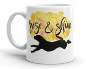 Dog Mug, Coffee and Tea, Art, Watercolors, Gifts for her, Dog Moms