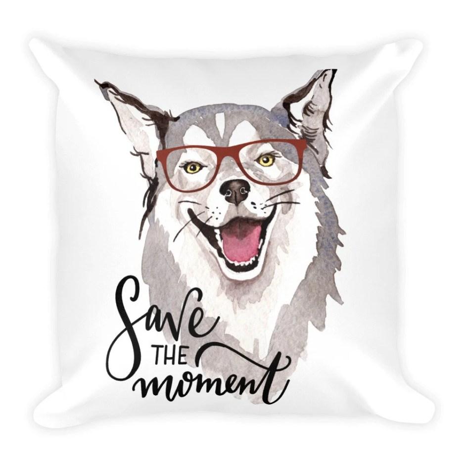 Rescue Dog, Throw Pillow,...