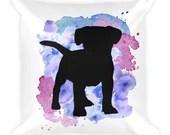 Puppy Throw Pillow, Pet Decor, Decorative Dog Pillows, Bed Pillow, Dog Pillow, Dog Pride, Adopt don't shop