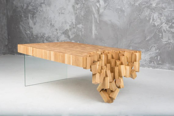wood coffee table unique coffee table from solid oak modern oak coffee table with glass