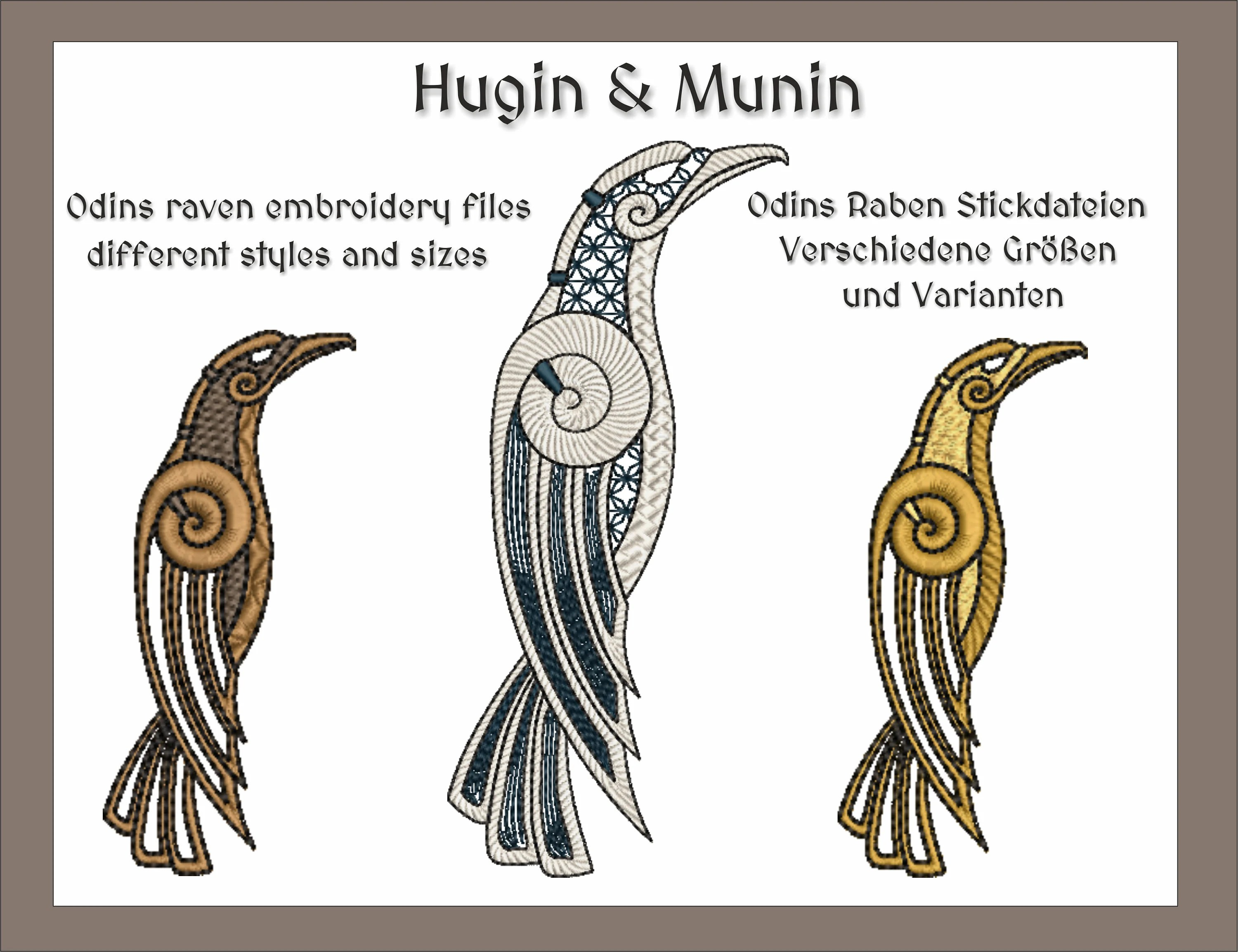 Hugin And Munin Drawing