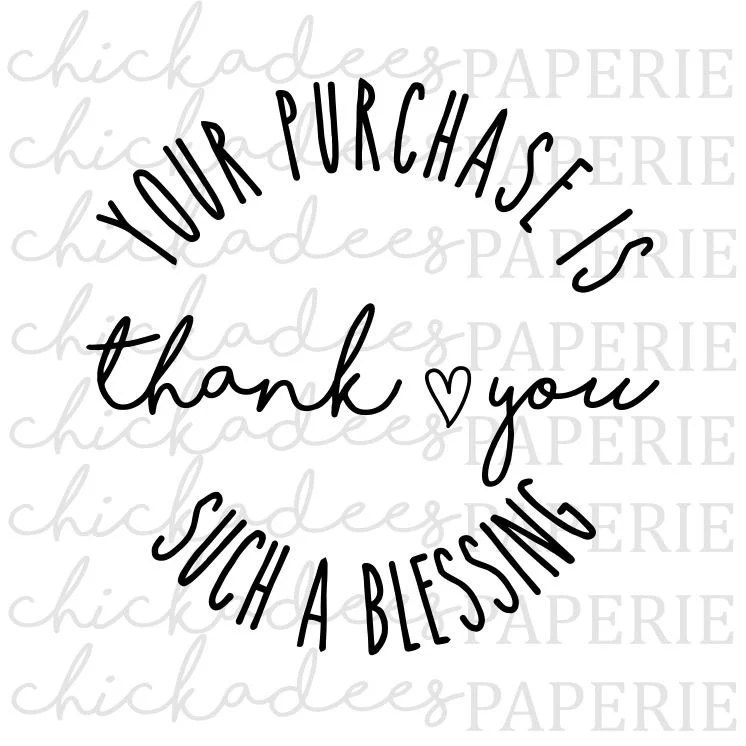 Thank You For Your Purchase svg Packaging Insert svg Thank