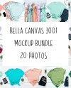 Bella Canvas Unisex 3001 T Shirt Mockup 20 High Quality Etsy