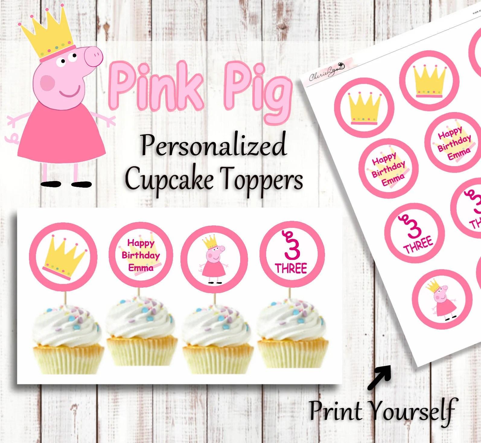 Peppa Pig Birthday Peppa Pig Peppa Pig Cupcake Toppers Peppa Pig Cupcakes Peppa Pig Party Decor Peppa Pig Printables Birthday Party