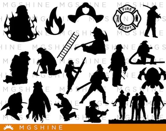 fireman silhouette clip art # 11