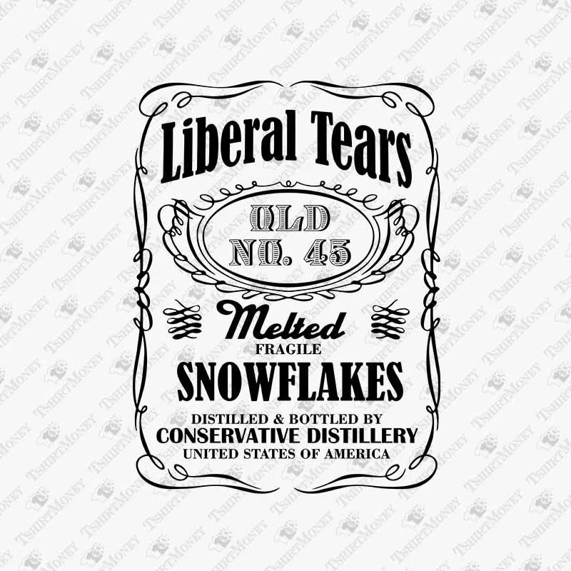 Liberal Tears SVG Melted Snowflakes Parody Trump Supporter