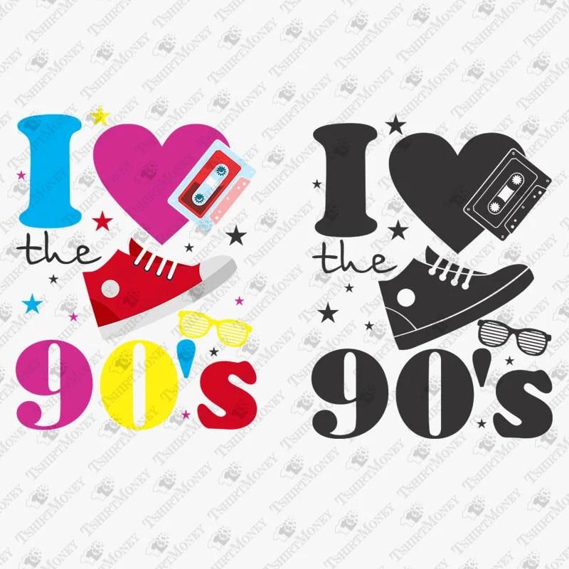 Download I Love The 90s SVG Nineties Svg 90s SVG 1990s SVG Retro   Etsy