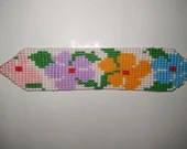 Flower Wrist Band - Beaded - Spiritual - From the Amazon