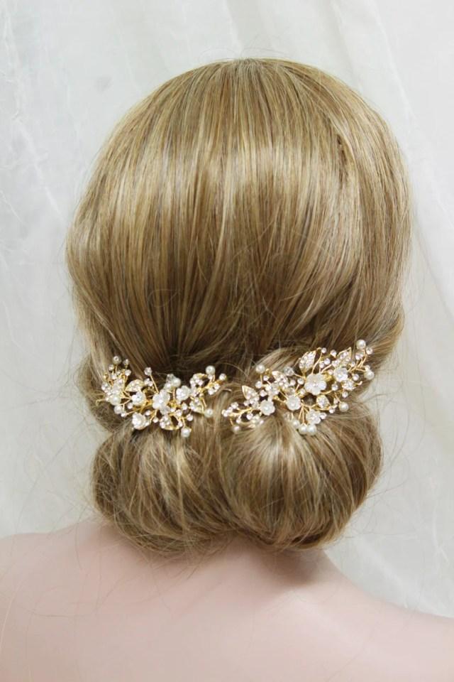 gold wedding hair clip, wedding hair piece ,bridal hair clip, wedding hair accessory, leaf headpiece ,floral hair pin, bridal hair accessory