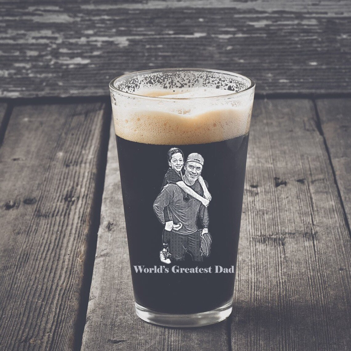 Personalized Pint Glass Fathers day gifts Gifts For Dad image 0