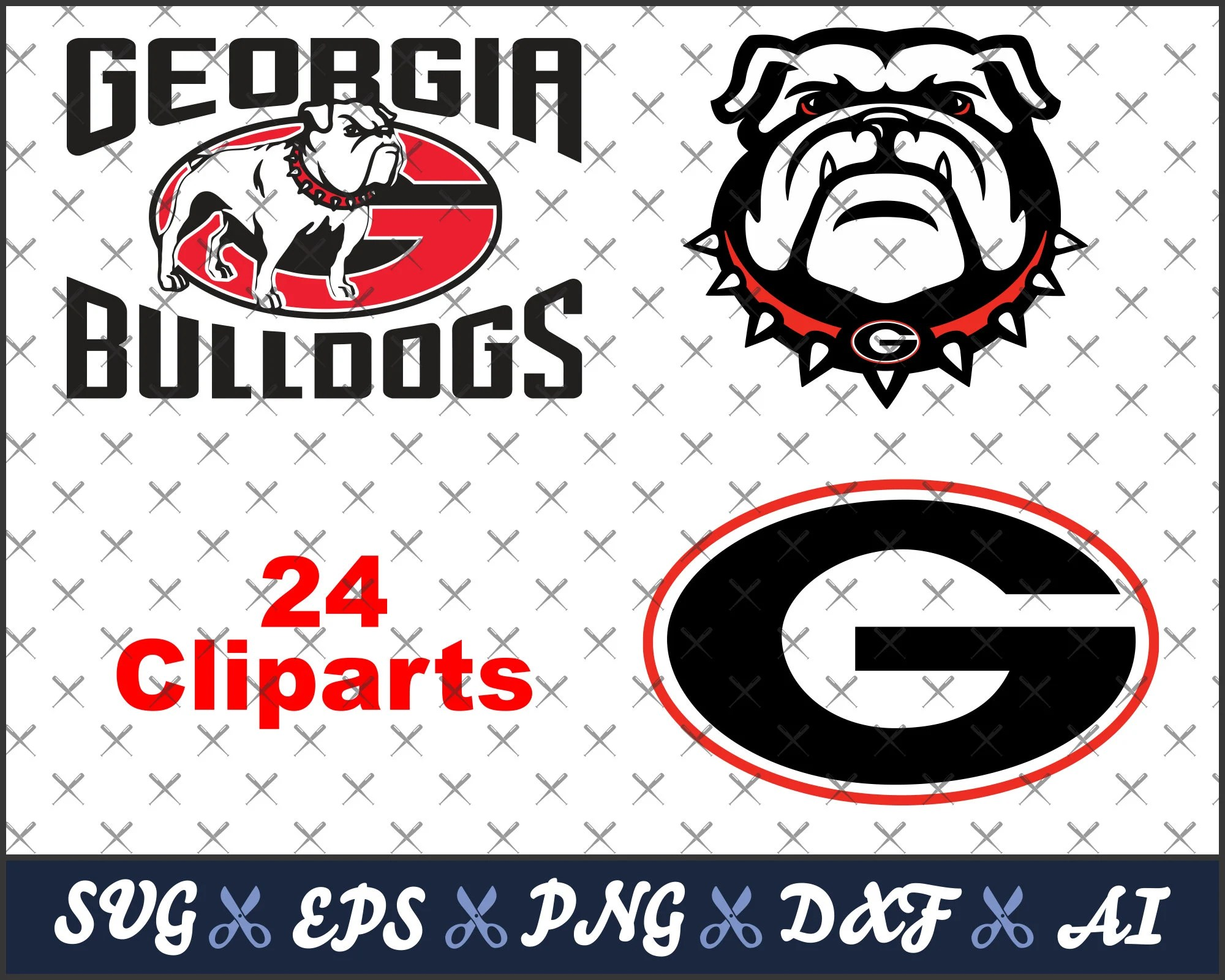 georgia bulldogs svg college