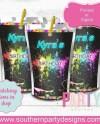 80s Skate Party Caprisun Labels Neon Glow Party Caprisun Etsy