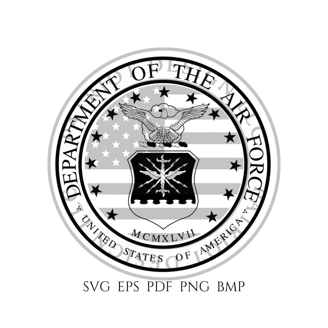Us Air Force Seal Air Force Seal Vector Air Force Usaf