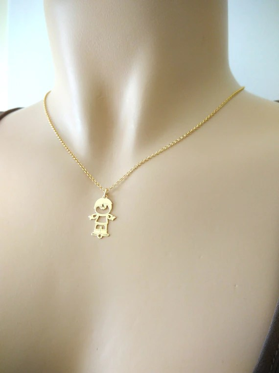 Baby Gold Chain Boy : chain, Pendant, Necklace, Charm, Filled