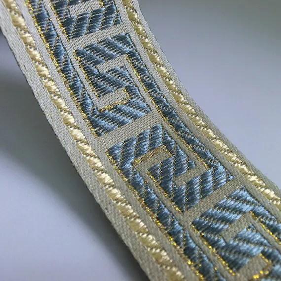 blue navy greek key curtain trim tape by the yard fabric ribbon trim tape for curtains curtain border fabric tape trim curtains with trim