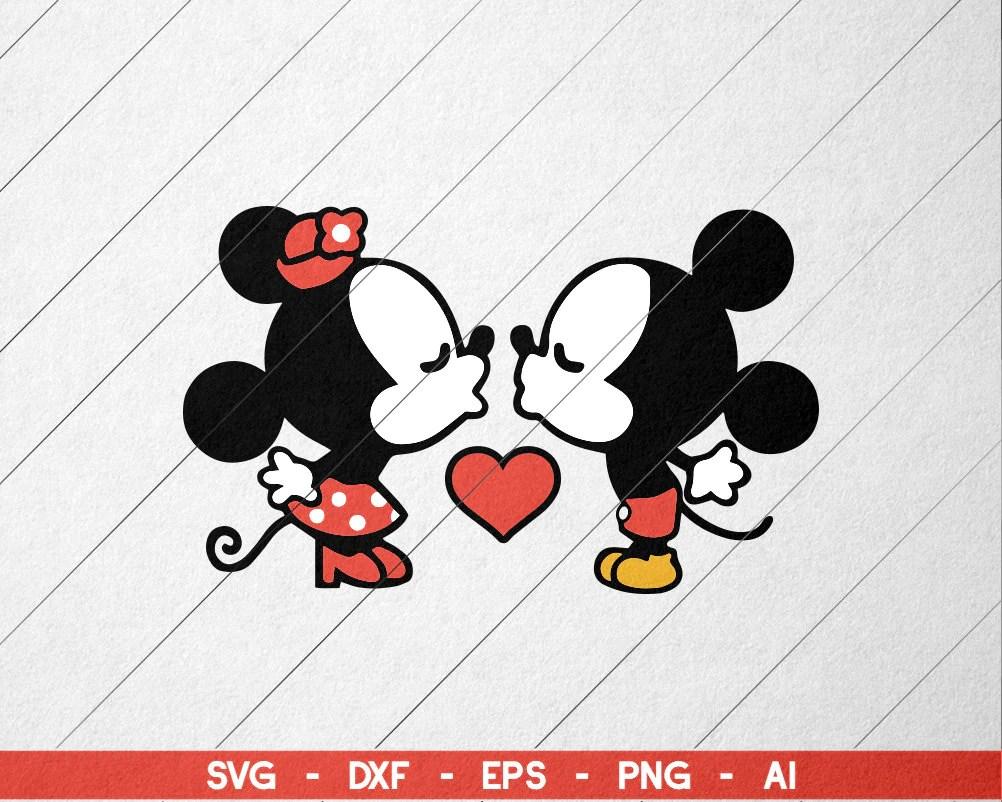 Download Kiss Mickey Minnie SVG | Etsy