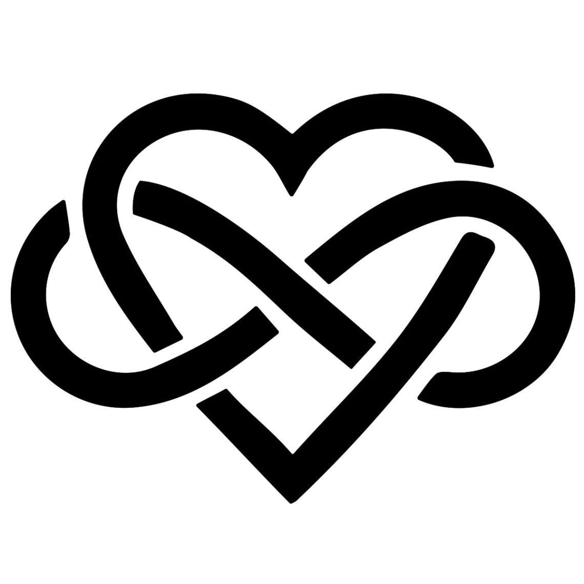 Download Infinity Sign Inside Heart SVG File | Etsy