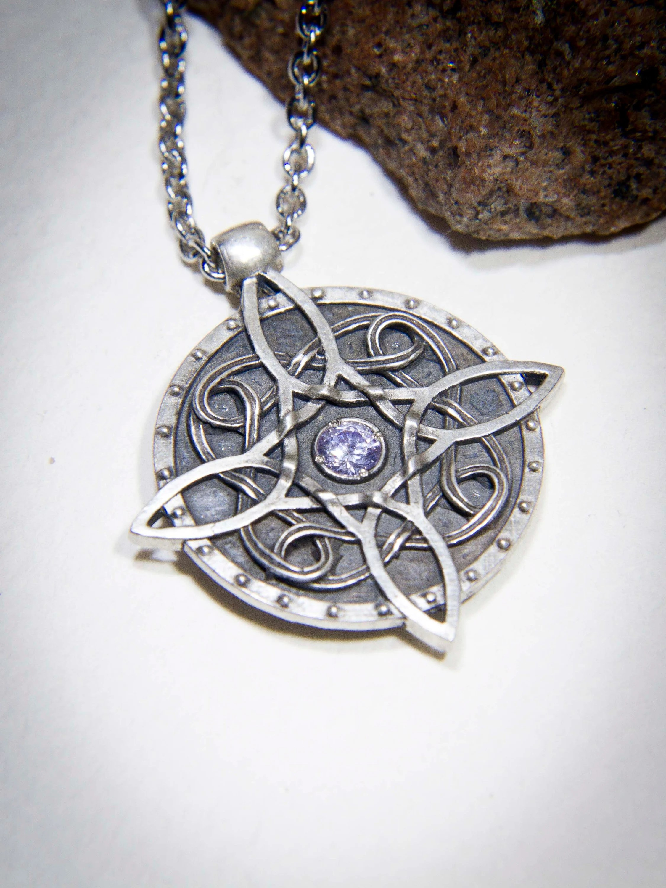 sterling silver amulet of