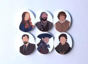 Scottish Romance Gift Set of 6 Portrait Magnets image 0